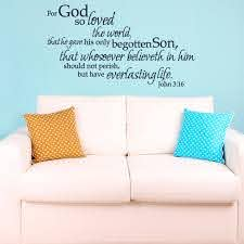 John 3 16 For God So Loved The World Wall Decal A Great Impression