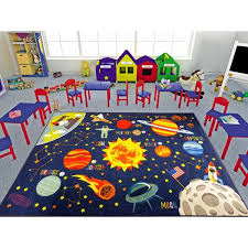 Kc Cubs Multi Color Kids And Children Bedroom Playroom Space Safari Road Map Educational Learning 3 Ft X 5 Ft Area Rug Kcp010024 3x5 The Home Depot