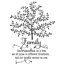 Wall Quote Decal Family Tree With Roots Branches Home Wall Art Etsy Family Tree Quotes Family Wall Decals Quotes Family Wall Decals