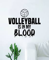 Volleyball Is In My Blood Wall Decal Decor Art Sticker Vinyl Room Bedr Boop Decals