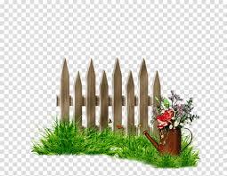 Grass Cartoon Clipart Fence Grass Plant Transparent Clip Art