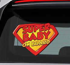 Superbaby On Board Car Sticker Tenstickers