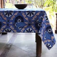 Image result for BLUE PRINTED TABLE LINEN