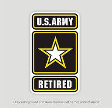Us Army Retired Window Decals Vinyl Stickers Military Embled Outdoor Durable Vinyl Decal Stickers Vinyl Sticker Vinyl Decals