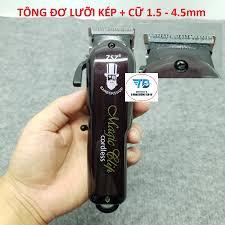 Tông đơ cắt tóc không dây chuyên nghiệp Barber Magic Clip ZSZ - Lưỡi Kép (  Tặng cữ 1.5mm - 4.5mm )