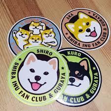 Warehouse House Original Shiba Inu Reflection Car Stickers Luggage Stickers Shop Ikinari Pinkoi