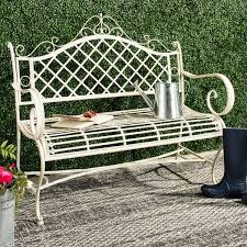 hornellsville wrought iron garden bench