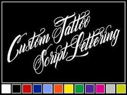 12 Custom Script Tattoo Style Vinyl Lettering Decal Name Sticker Window Laptop Ebay