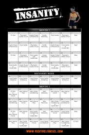 insanity calendar positively sel