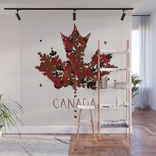 Maple Leaf Wall Mural By Emirsimsek Society6