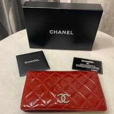 chanel bags patent leather wallet