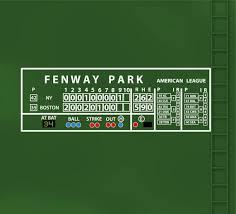 Boston Red Sox Fenway Park Scoreboard Decal 100x33 Etsy