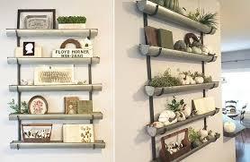 five tier wall planter shelf indoors
