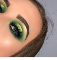 green makeup cute blue eyes milas net