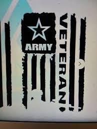 Large Army Veteran Decal Sticker Car Window Wall Boat Cooler 15 X 10 Ebay