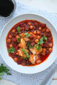 Chickpea, Chorizo and Cod Stew with ...