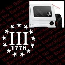 Many Colors Iii 3 Percenter 1776 Sticker Die Cut Vinyl Decal Etsy