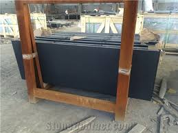 honed granite hearth for solid fuel
