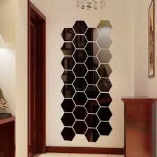 3d Mirror Hexagon Vinyl Removable Wall Sticker Decal Home Room Decor Art For Sale Online Ebay