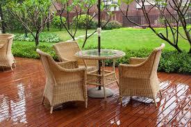 my rattan garden furniture gets wet
