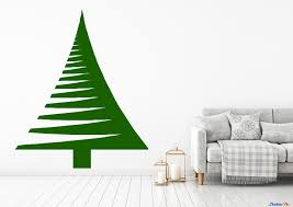 Christmas Pine Tree Living Room Family Room Vinyl Wall Decal