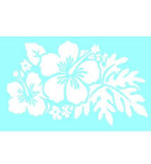 White Hibiscus Flowers Window Sticker Cool Chaos Com