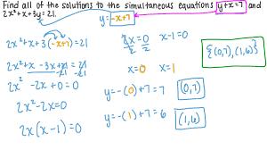 linear and quadratic equations