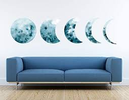 Amazon Com Moon Phases Wall Decal Moon Phases Decor Moon Phase Wall Art Mural Vinyl Sticker Baby