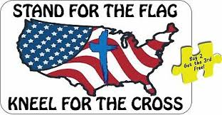 I Stand For Our National Anthem And Kneel For The Cross V2 Decal Is 5