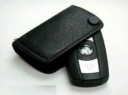 genuine bmw key fob holder leather case