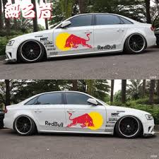 2019 New Car Sticker Red Bull Car Sticker Bulll Personality Modified Tide Brand Sports Drink Scratch Paste Mustang Ci Shopee Malaysia