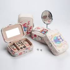 mini leather jewelry box for travel owl
