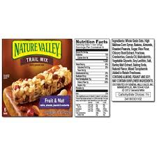 nature valley trail mix fruit nut
