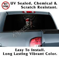 Pirate Back Window Graphic Perforated Film Decal Truck Suv Ebay