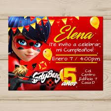 Invitacion Miraculous Ladybug Editable Para Imprimir En Casa