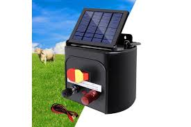 Giantz 5km Solar Electric Fence Energiser Wire Energizer Charger 0 15j Farm Animal Kogan Com