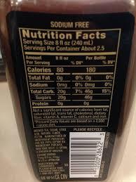 32 pure leaf tea nutrition label