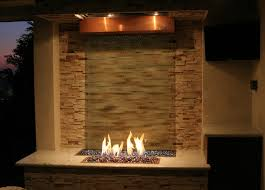 fire and water feature patio decor