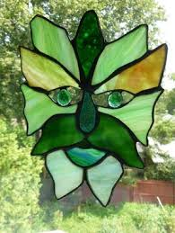 meval green man stained glass