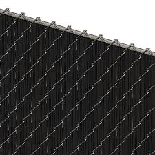 Pds Ws Chain Link Fence Slats Winged Slat 6 Foot Black