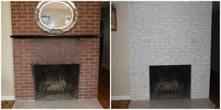 painting an old red fireplace