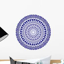 Turkish Blue Mandala Wall Decal Wallmonkeys Com