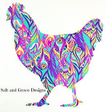 Salt And Grace Designs Ok Crazy Chicken Ladies These Cute Colorful Decals Are Finally Back In Stock In My Etsy Shop Https Www Etsy Com Saltandgracedesigns Listing 561281960 Chicken Decal Chicken Car Decal Chicken Utm Source