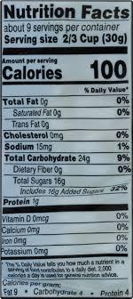 full mini marshmallow nutrition label