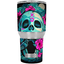 Skin Decal Vinyl Wrap For Rtic 30 Oz Tumbler Cup Stickers Skins Cover 6 Piece Kit Skull Dia De Los Muertos Design Bird Walmart Com Walmart Com