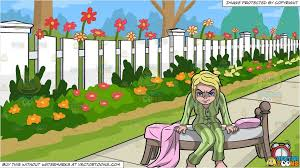 Get Up On The Wrong Side Of Bed And White Picket Fence Background Clipart Cartoons By Vectortoons