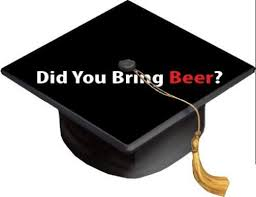 Amazon Com Did You Bring Beer Grad Cap Decal Vinyl Sticker Skin For Graduation Caps Kitchen Dining