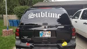 Customer Sublime Window Sticker