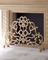 gold fireplace screen horchow com