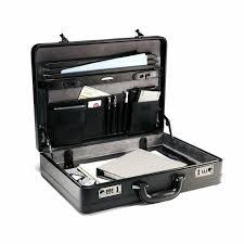 leather men attache briefcase business